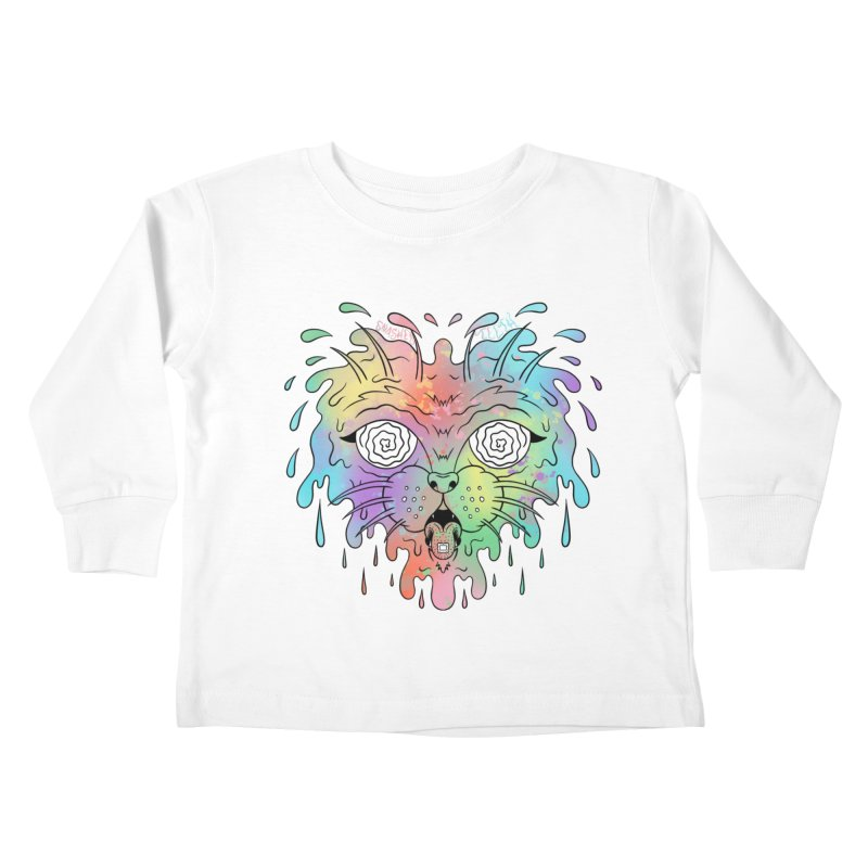 Acid Cat Kids Toddler Longsleeve T-Shirt by The Gnashed Teethery
