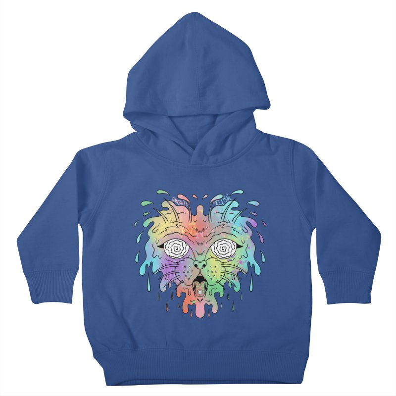 Acid Cat Kids Toddler Pullover Hoody by The Gnashed Teethery