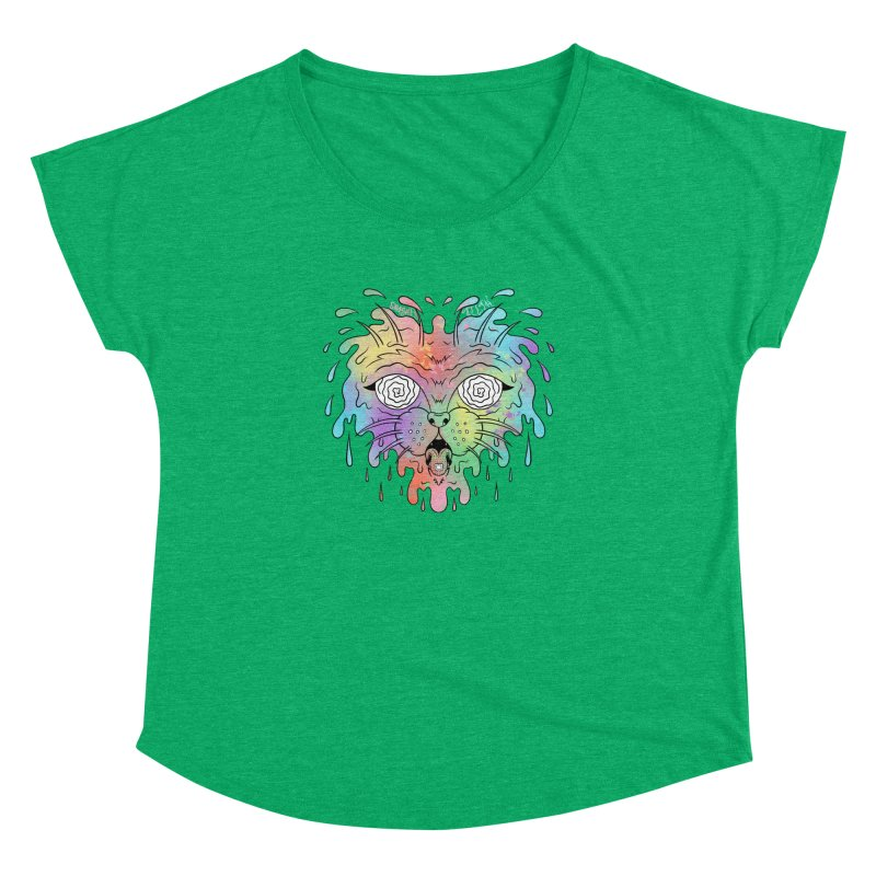 Acid Cat Women's Dolman Scoop Neck by The Gnashed Teethery