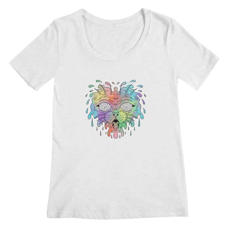 Acid Cat Women's Scoop Neck by The Gnashed Teethery