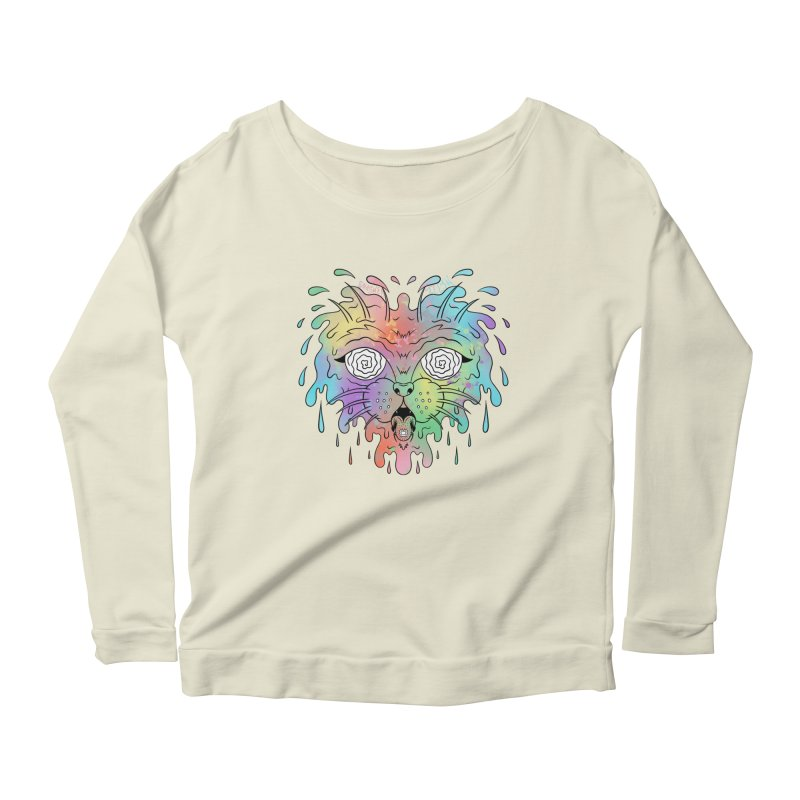 Acid Cat Women's Scoop Neck Longsleeve T-Shirt by The Gnashed Teethery