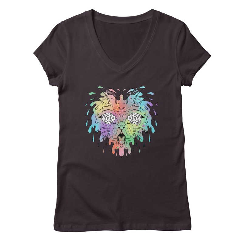 Acid Cat Women's Regular V-Neck by The Gnashed Teethery