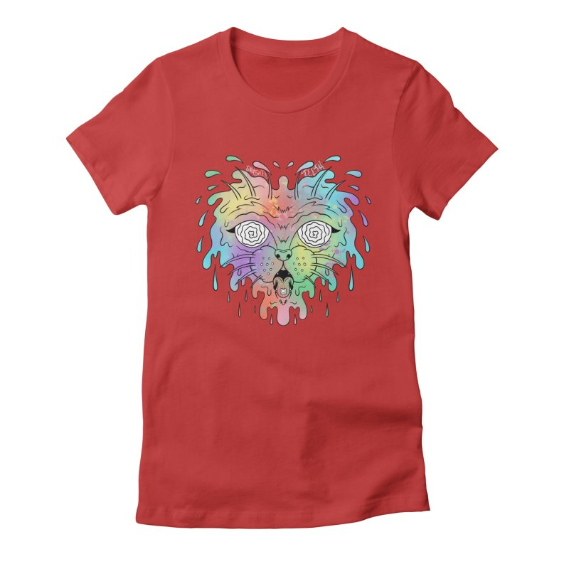 Acid Cat Women's Fitted T-Shirt by The Gnashed Teethery