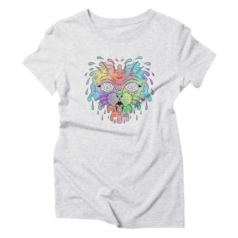 Acid Cat Women's Triblend T-Shirt by The Gnashed Teethery