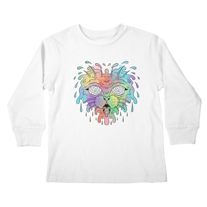 Acid Cat Kids Longsleeve T-Shirt by The Gnashed Teethery