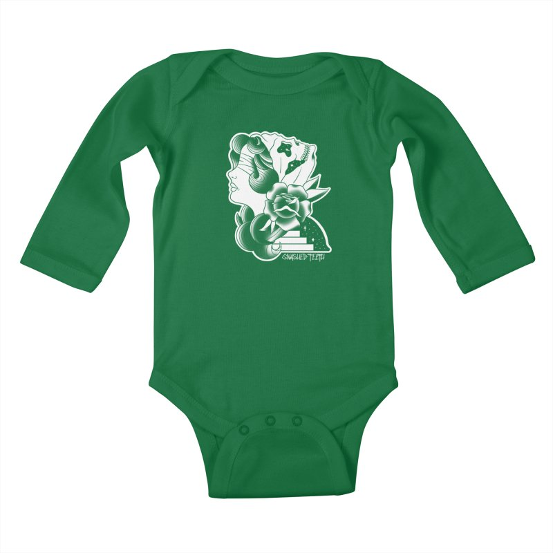 Witchy Woman Kids Baby Longsleeve Bodysuit by The Gnashed Teethery
