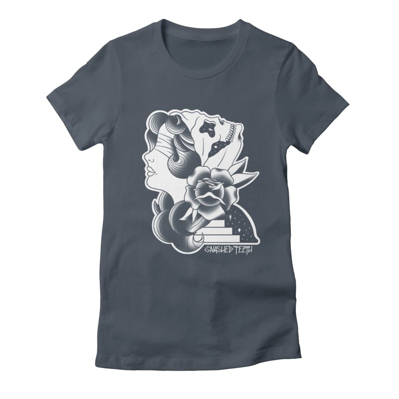 Witchy Woman Women's Fitted T-Shirt by The Gnashed Teethery