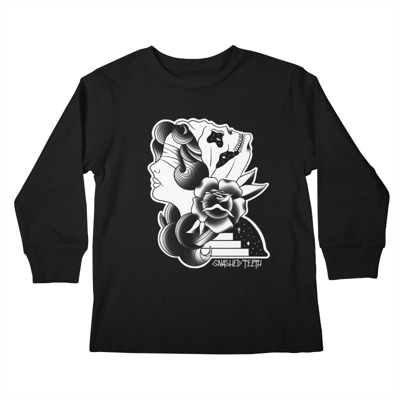 Witchy Woman Kids Longsleeve T-Shirt by The Gnashed Teethery
