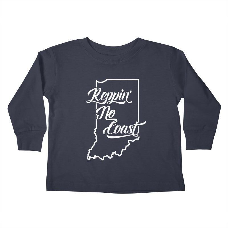 Reppin No Coast Kids Toddler Longsleeve T-Shirt by The Gnashed Teethery