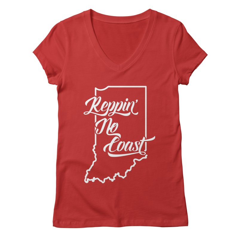 Reppin No Coast Women's Regular V-Neck by The Gnashed Teethery