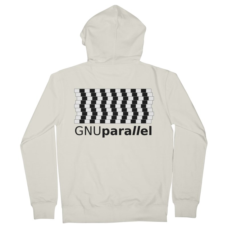 GNU Parallel Men's French Terry Zip-Up Hoody by Shop for GNU Parallel