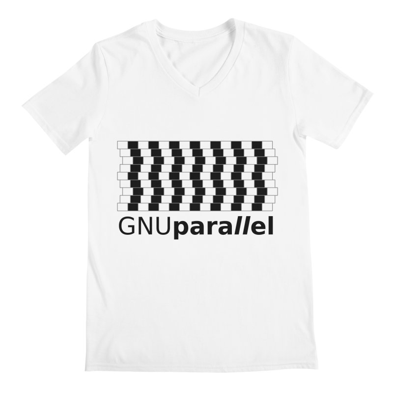 GNU Parallel Men's Regular V-Neck by Shop for GNU Parallel