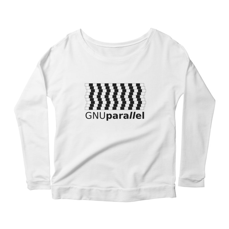 GNU Parallel Women's Scoop Neck Longsleeve T-Shirt by Shop for GNU Parallel