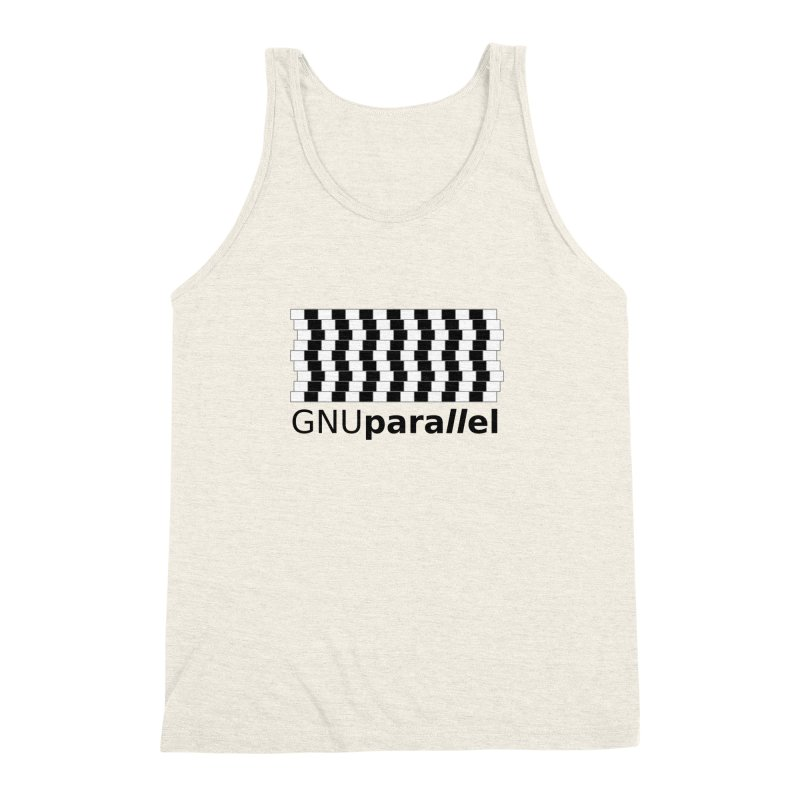 GNU Parallel Men's Triblend Tank by Shop for GNU Parallel