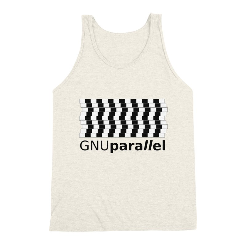 GNU Parallel Men's Triblend Tank by Shop for GNU Parallel