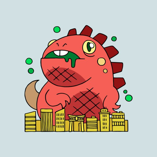 image for Prehistoric lizard is destroying the city!