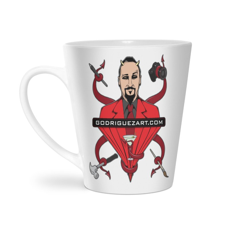 Godriguezart: The Devil made me do it Accessories Latte Mug by the twisted world of godriguezart