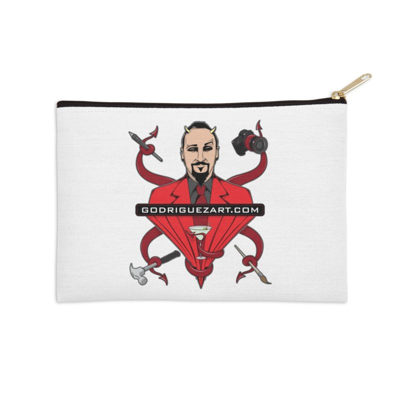 Godriguezart: The Devil made me do it Accessories Zip Pouch by the twisted world of godriguezart
