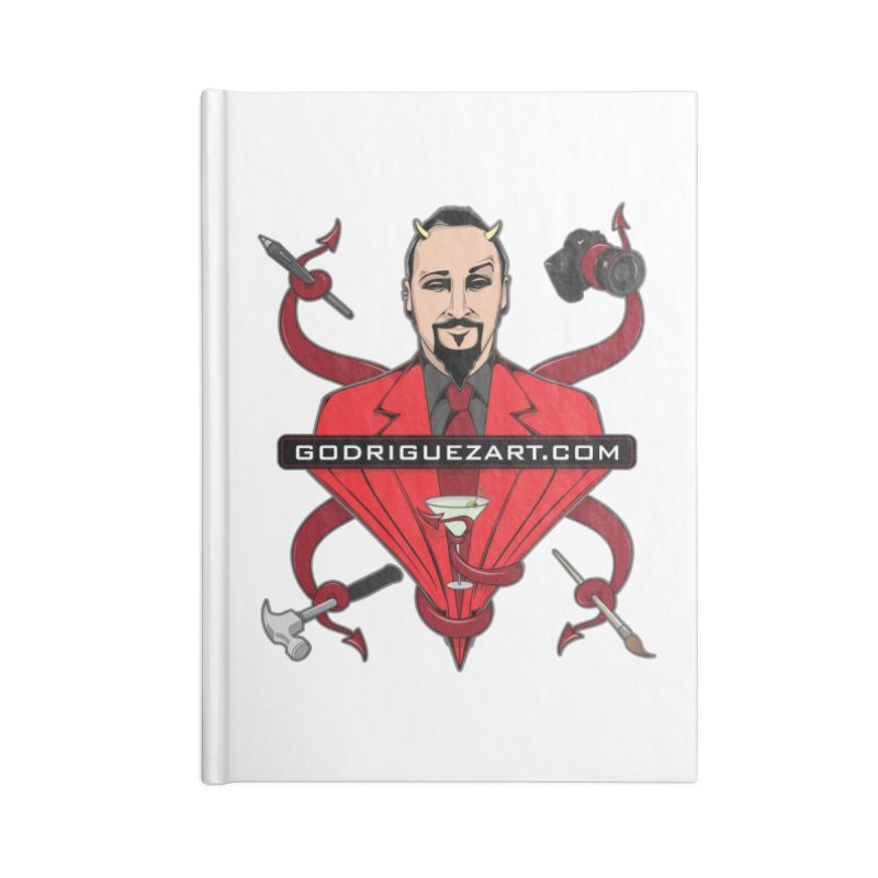 Godriguezart: The Devil made me do it Accessories Notebook by the twisted world of godriguezart