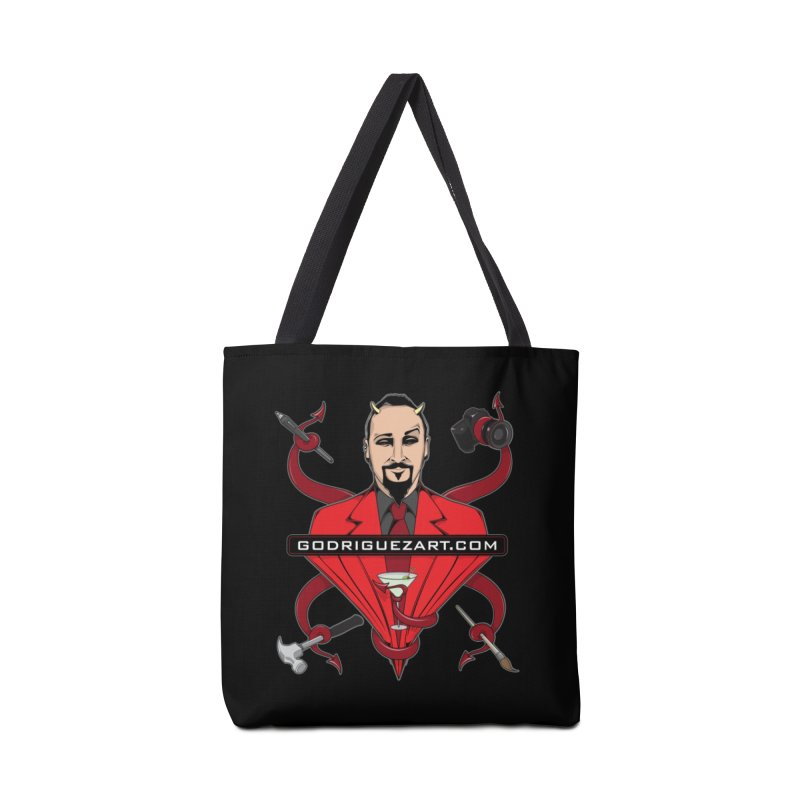 Godriguezart: The Devil made me do it Accessories Bag by the twisted world of godriguezart