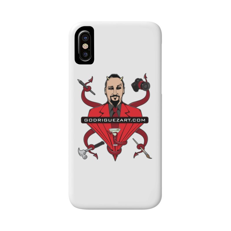 Godriguezart: The Devil made me do it Accessories Phone Case by the twisted world of godriguezart