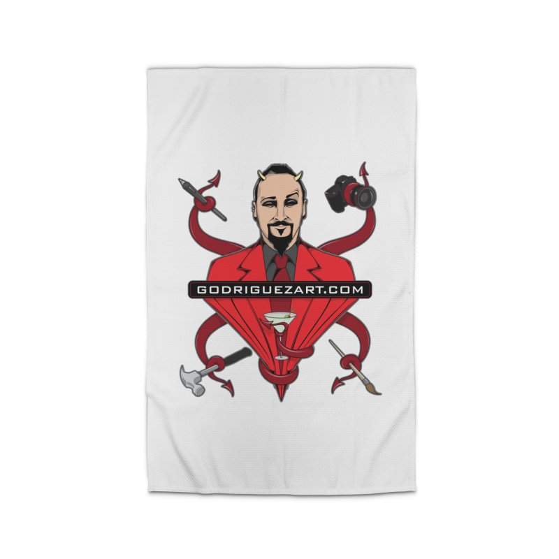 Godriguezart: The Devil made me do it Home Rug by the twisted world of godriguezart