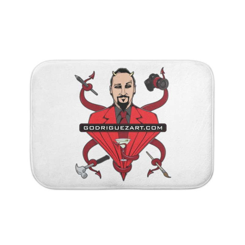 Godriguezart: The Devil made me do it Home Bath Mat by the twisted world of godriguezart