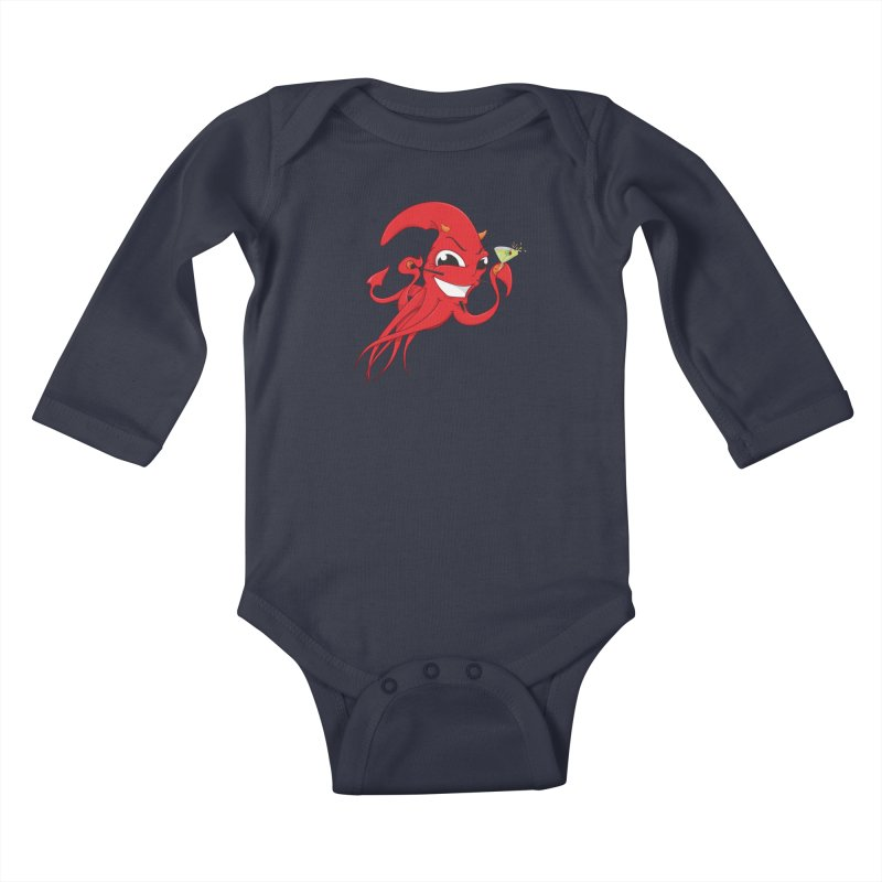last call of Cthulhu Kids Baby Longsleeve Bodysuit by the twisted world of godriguezart