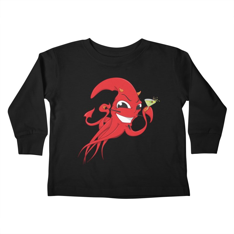 last call of Cthulhu Kids Toddler Longsleeve T-Shirt by the twisted world of godriguezart