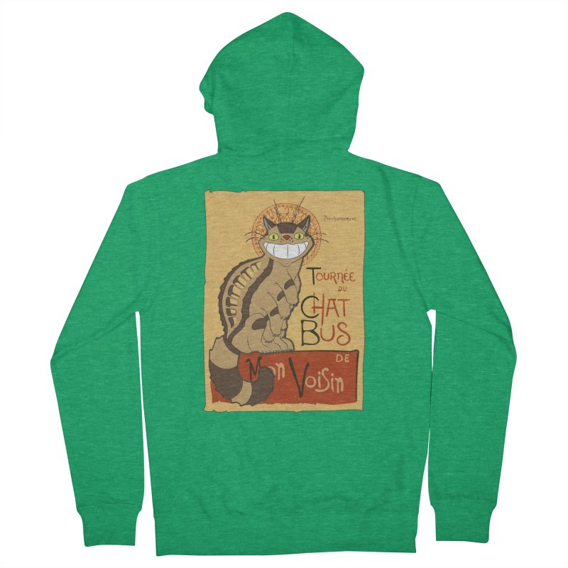 Le Chat Bus Men's Zip-Up Hoody by the twisted world of godriguezart