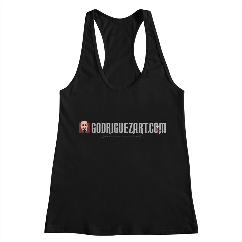 the devil is in the details Women's Racerback Tank by the twisted world of godriguezart