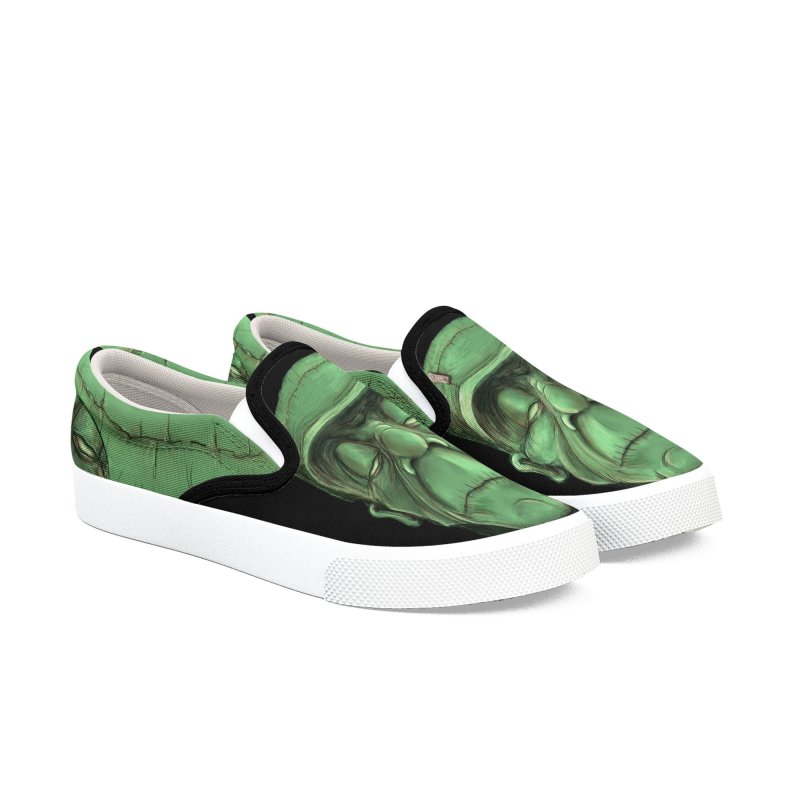 Frankie Women's Slip-On Shoes by the twisted world of godriguezart