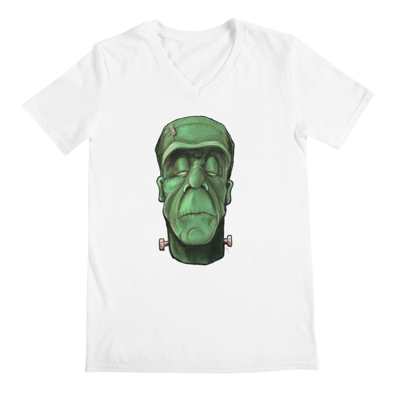 Frankie Men's V-Neck by the twisted world of godriguezart