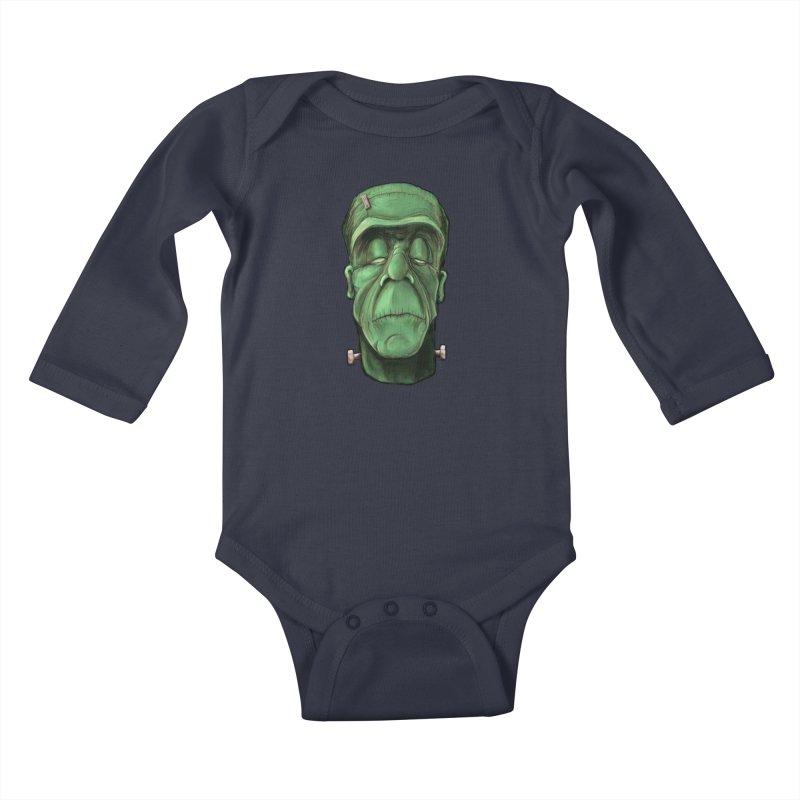 Frankie Kids Baby Longsleeve Bodysuit by the twisted world of godriguezart