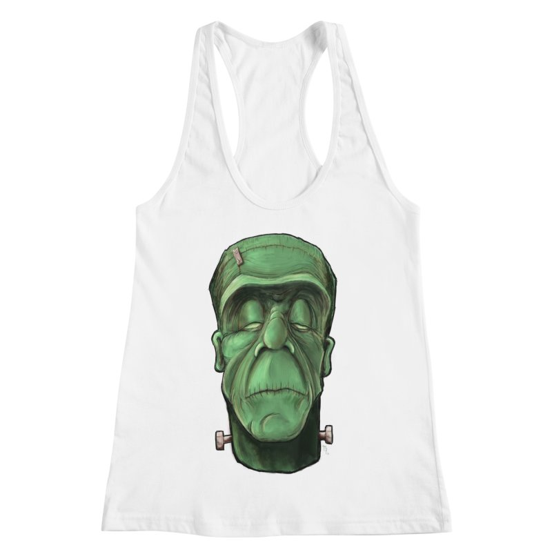 Frankie Women's Racerback Tank by the twisted world of godriguezart