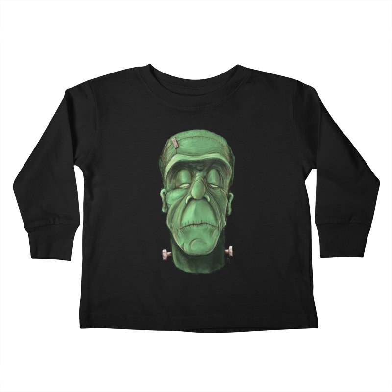 Frankie Kids Toddler Longsleeve T-Shirt by the twisted world of godriguezart