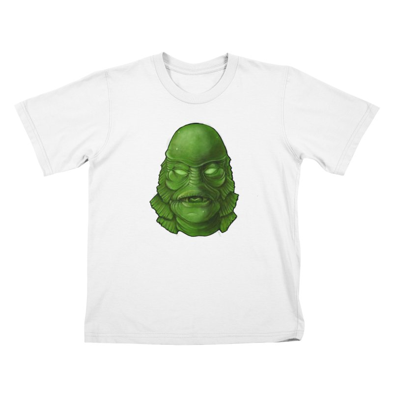 creature feature Kids T-Shirt by the twisted world of godriguezart