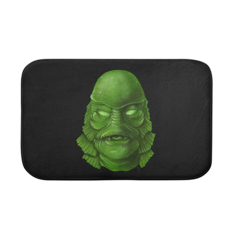 creature feature Home Bath Mat by the twisted world of godriguezart
