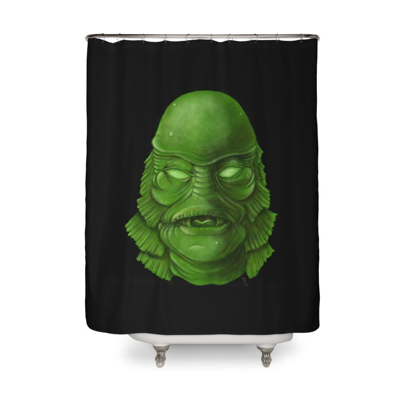 creature feature Home Shower Curtain by the twisted world of godriguezart