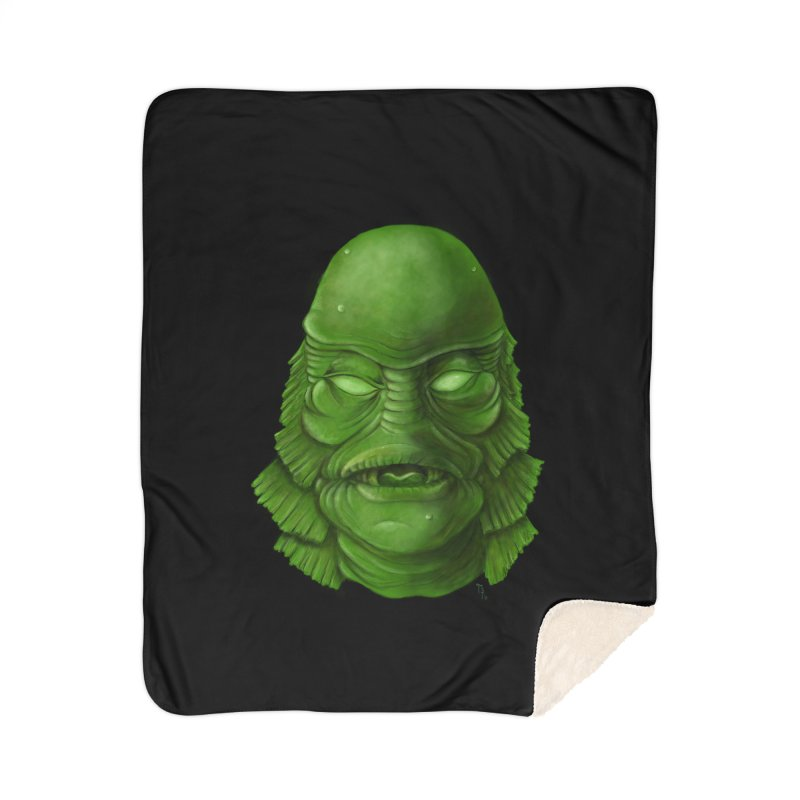 creature feature Home Sherpa Blanket Blanket by the twisted world of godriguezart