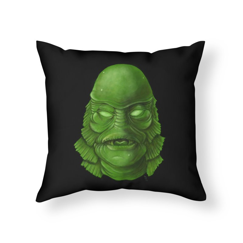 creature feature Home Throw Pillow by the twisted world of godriguezart