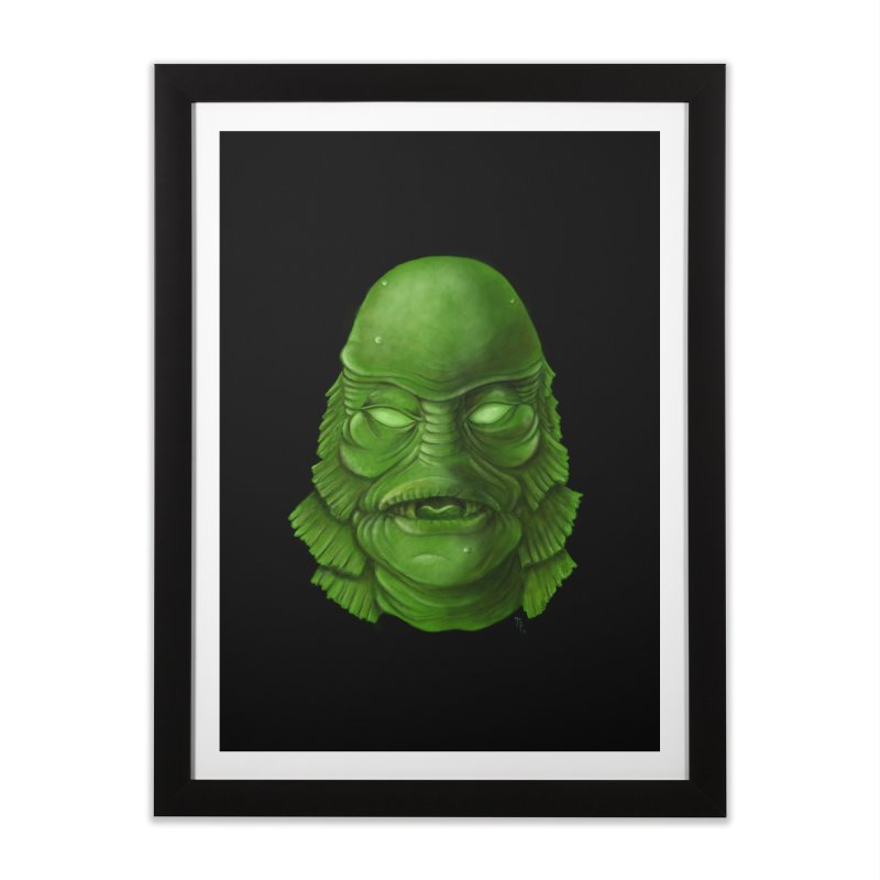 creature feature Home Framed Fine Art Print by the twisted world of godriguezart