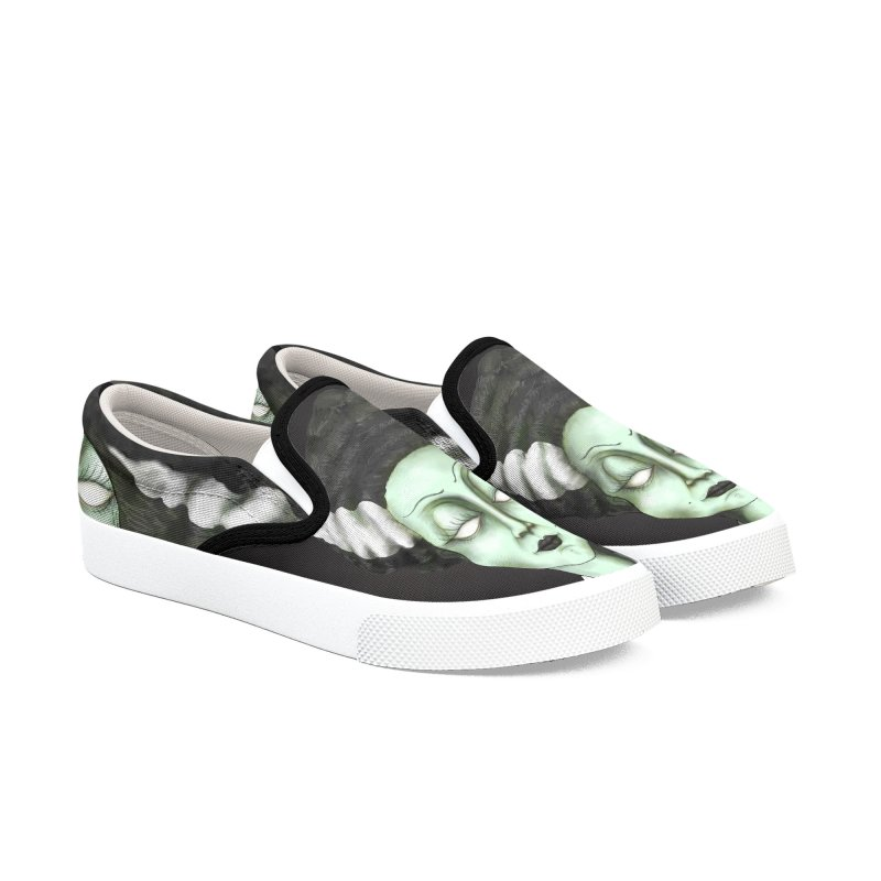 the bride Men's Slip-On Shoes by the twisted world of godriguezart