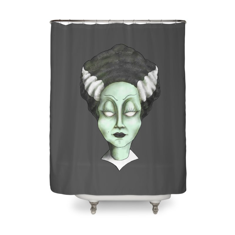the bride Home Shower Curtain by the twisted world of godriguezart
