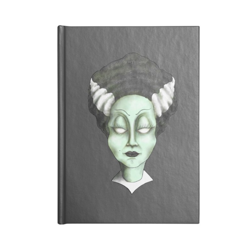 the bride Accessories Blank Journal Notebook by the twisted world of godriguezart