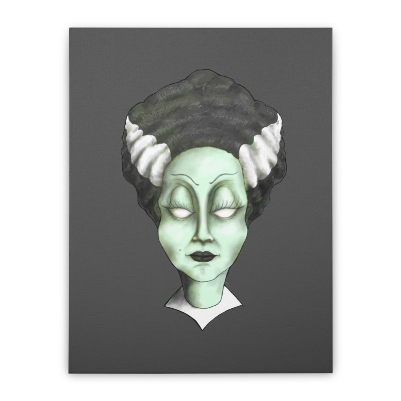 the bride Home Stretched Canvas by the twisted world of godriguezart