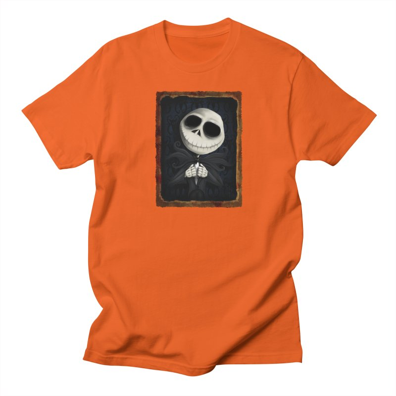 i am the pumpkin king! Men's Regular T-Shirt by the twisted world of godriguezart