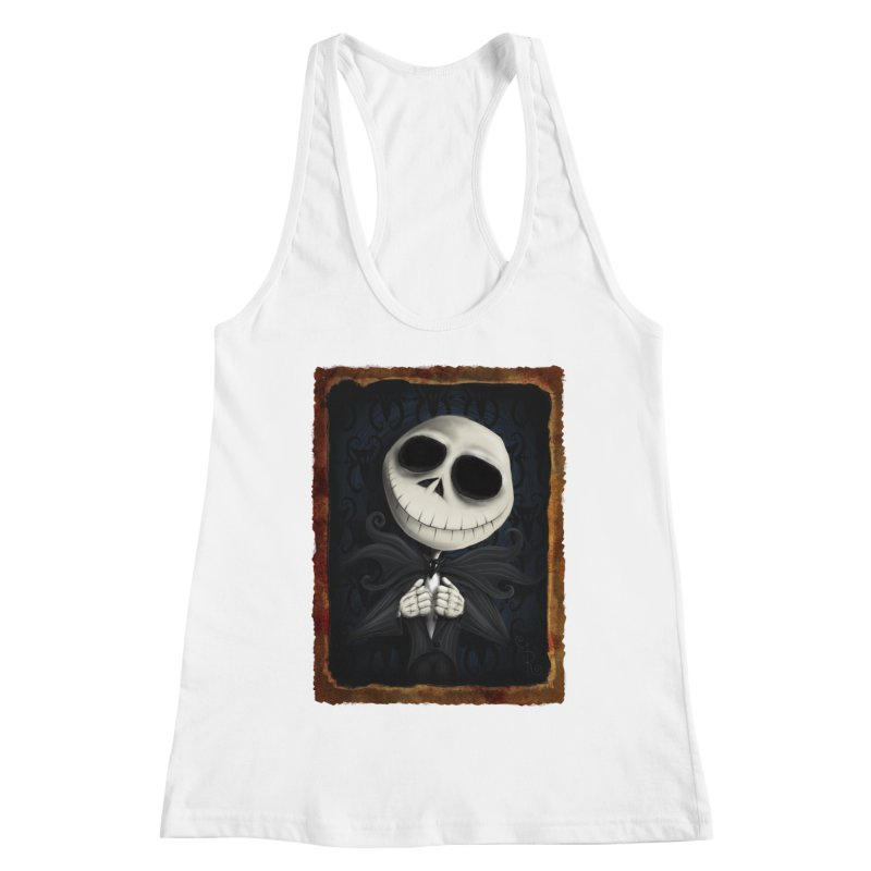 i am the pumpkin king! Women's Racerback Tank by the twisted world of godriguezart