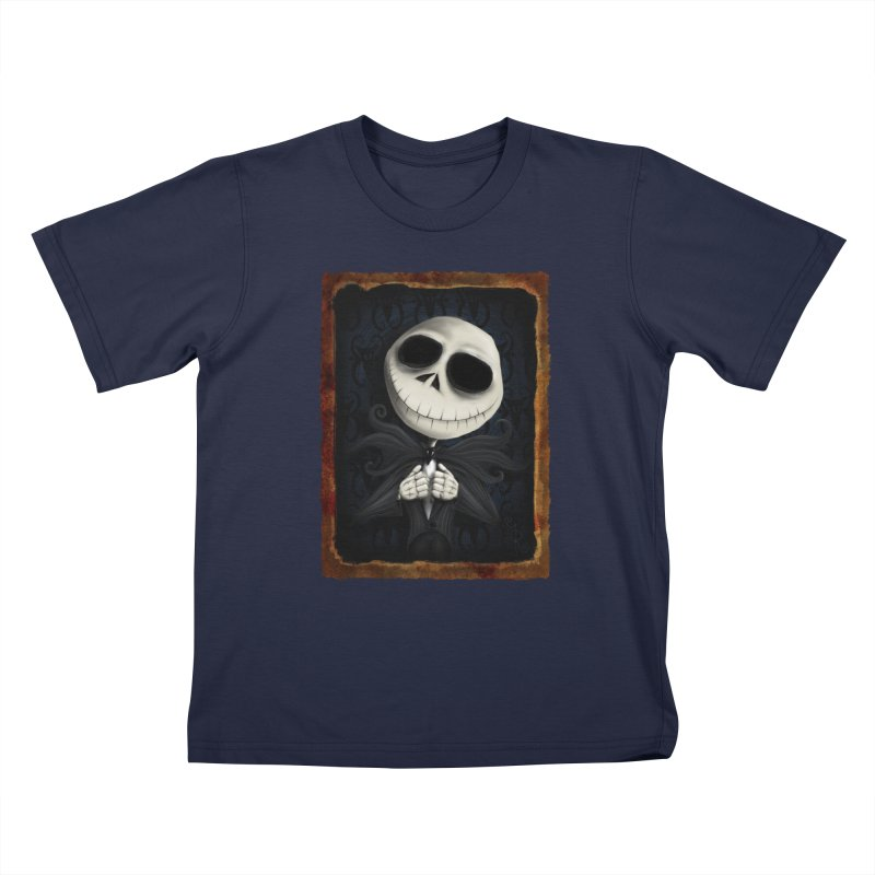 i am the pumpkin king! Kids T-Shirt by the twisted world of godriguezart