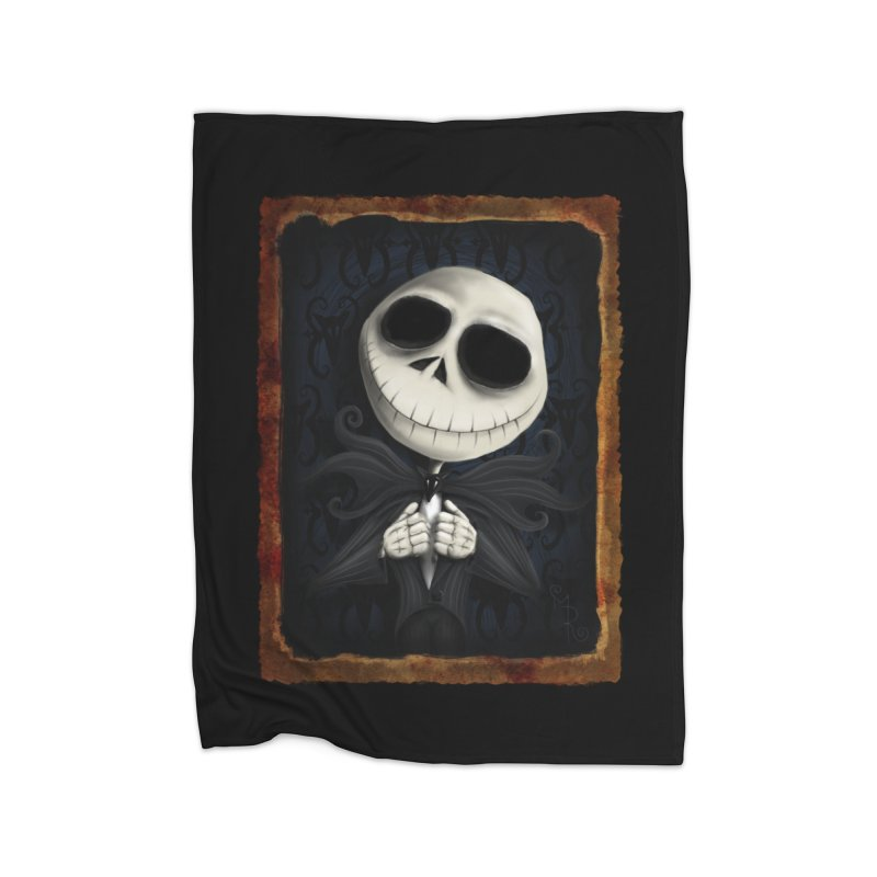 i am the pumpkin king! Home Fleece Blanket Blanket by the twisted world of godriguezart
